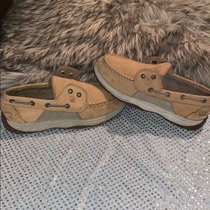 SPERRY LITTLE BOYS SHOES SIZE 3M tan leather